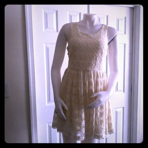 H&M Cream Lace Dress Large